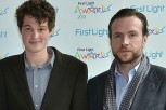 GulliveGulliver Moore with actor Rafe Spall
