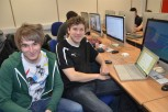 iOS developer Phil Caudell and student Patrick Guffui