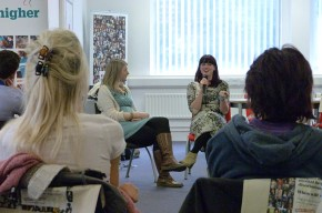 Jess Griffiths, director of I*EAT chats with BU graduate Alice Jackson