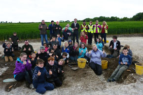 Members of the Young Archaeologists Club at the Big Dig