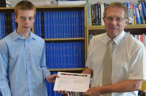 Ben Robertson with Professor Jim Roach