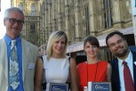The BU winners and staff outside the House of Commons