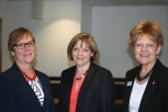 Professor Gail Thomas, Jane Cummings and Professor Elizabeth Rosser at the Phi Mu Conference