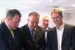 Conor Burns, John Vinney and Tobias Ellwood sign the manifesto