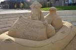 NSS camel sand sculpture