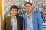 Paul Scates and Andrew Mayers at Mental Health Awareness Week at BU