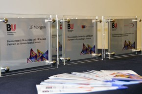 The plaques given to organisations at the Partners in Accounting and Finance Presentation Ceremony