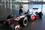 Jimmy Headdon with Formula 1 car
