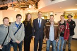 Tobias Ellwood MP with Media School students