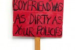 protest placard