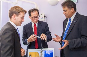 L-R: Dr Neil Vaughan, Professor Michael Wee and Dr Venky Dubey
