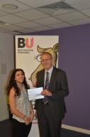 Prize winner Christalleni Michael with Professor John Vinney