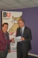 Prize winner Matthew Edwards with Professor John Vinney