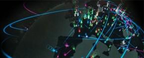 Globe showing cyber attacks